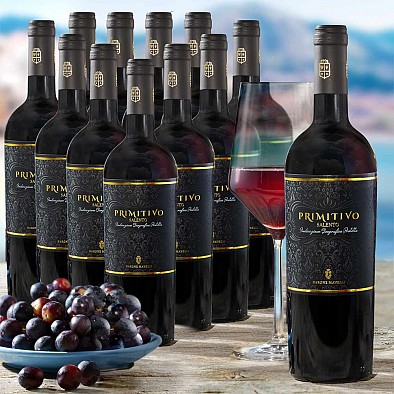 Offerta promozionale 12 bottiglie Primitivo Salento IGT