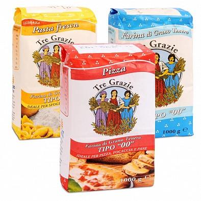 Tre Grazie - 3 tipi di farina