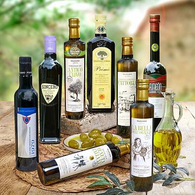 Lot de 8 Huiles d'olive Selezione grande