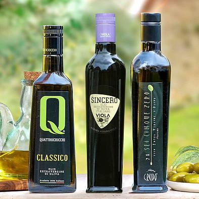 Trio d'huiles d'olives - médaille d'or