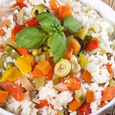 Gemüsemix für italienischen Reissalat