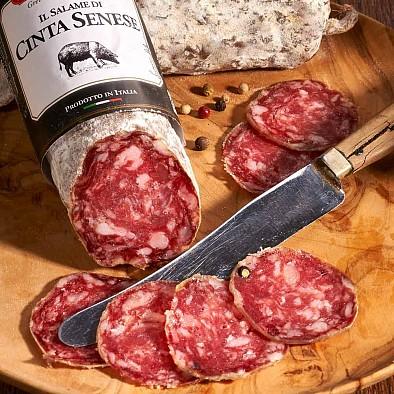 Noble saucisson de porc toscan - race Cinta Senese