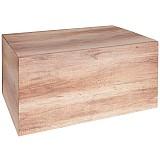 Coffret cadeau motif bois