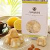 Amaretti morbidi al limone Biscuits toscans moelleux aux amandes et au citron